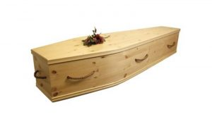 Solid Pine Coffin 1
